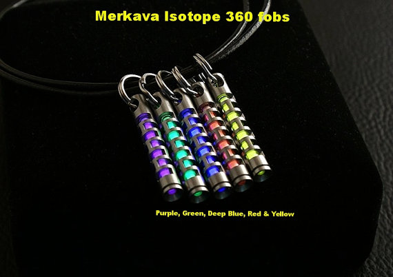 Merkava Isotope 360 fobs with Tritium Vial